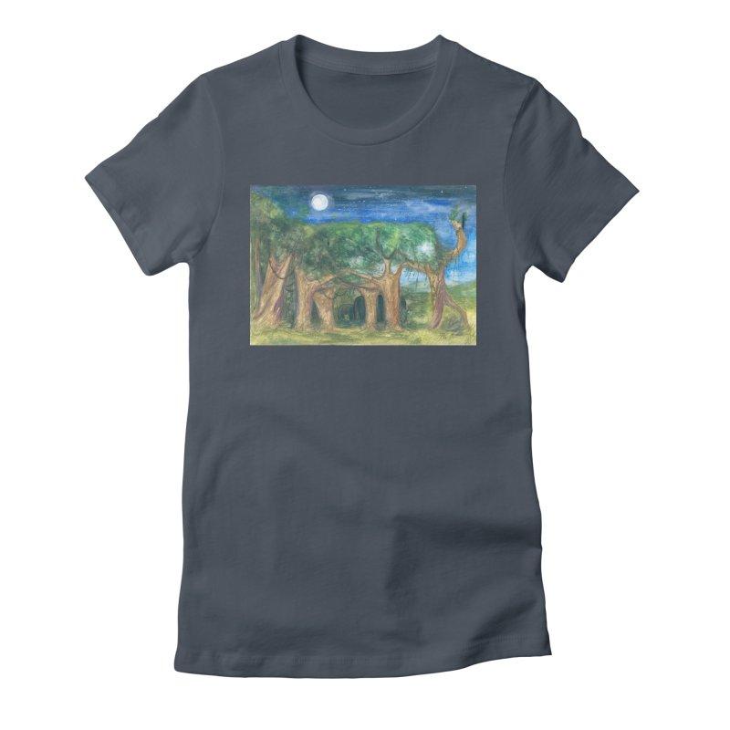 Elephant Forest Women's T-Shirt by Trunks & Leaves' Artist Shop