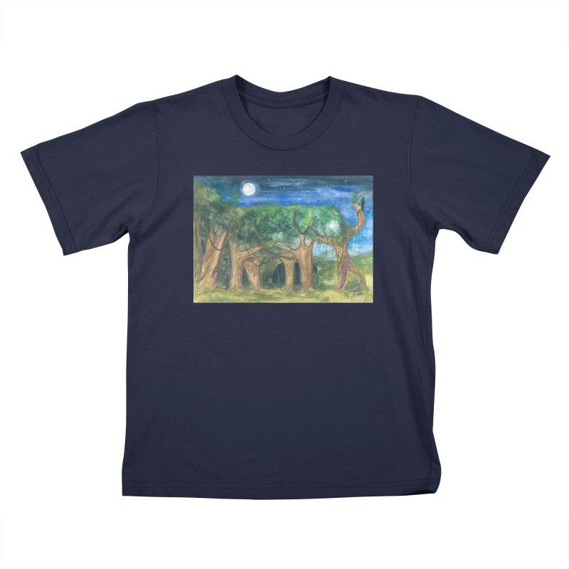 Elephant Forest Kids T-Shirt by Trunks & Leaves' Artist Shop