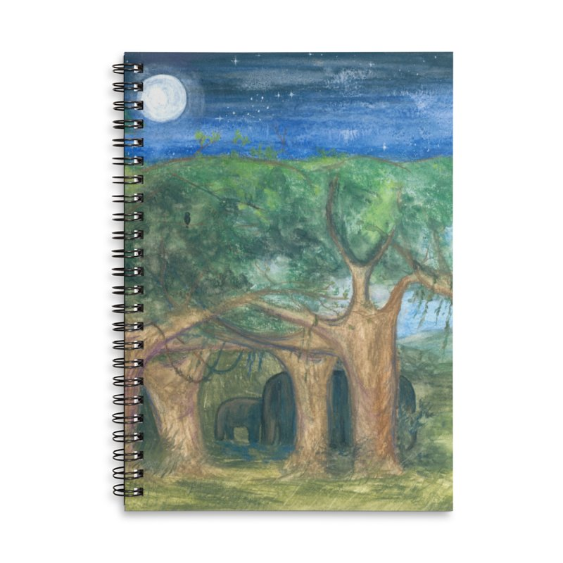 Elephant Forest Accessories Notebook by Trunks & Leaves' Artist Shop