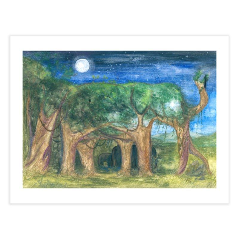 Elephant Forest Home Fine Art Print by Trunks & Leaves' Artist Shop