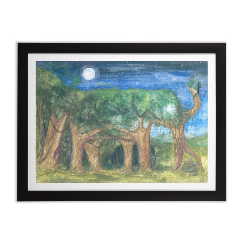 Elephant Forest Home Framed Fine Art Print by Trunks & Leaves' Artist Shop