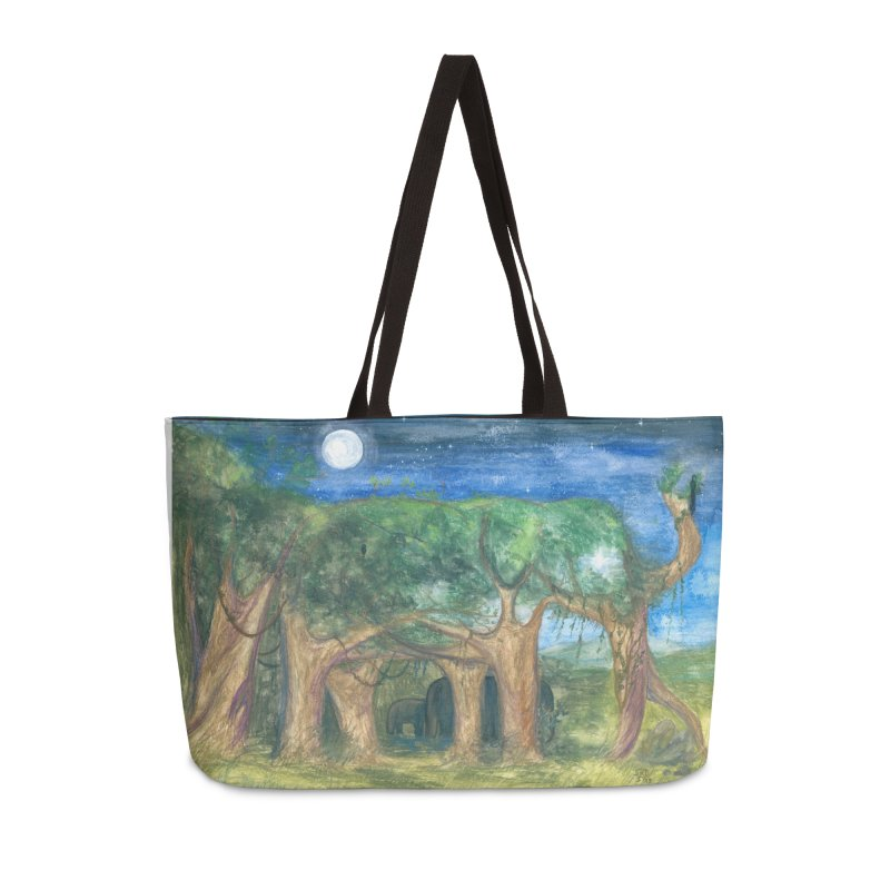 Elephant Forest Accessories Bag by Trunks & Leaves' Artist Shop