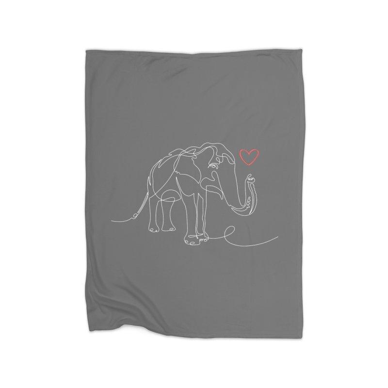 Elly Love - White Home Blanket by Trunks & Leaves' Artist Shop