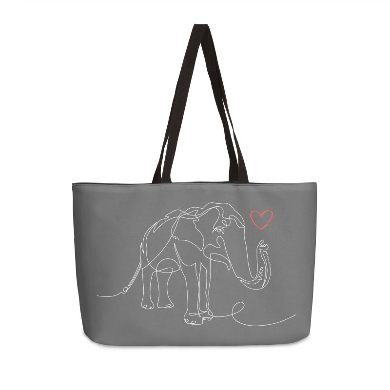 Elly Love - White Accessories Bag by Trunks & Leaves' Artist Shop