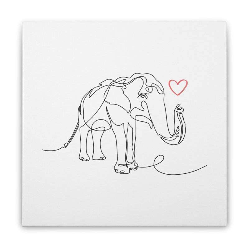Elly Love - Black Home Stretched Canvas by Trunks & Leaves' Artist Shop