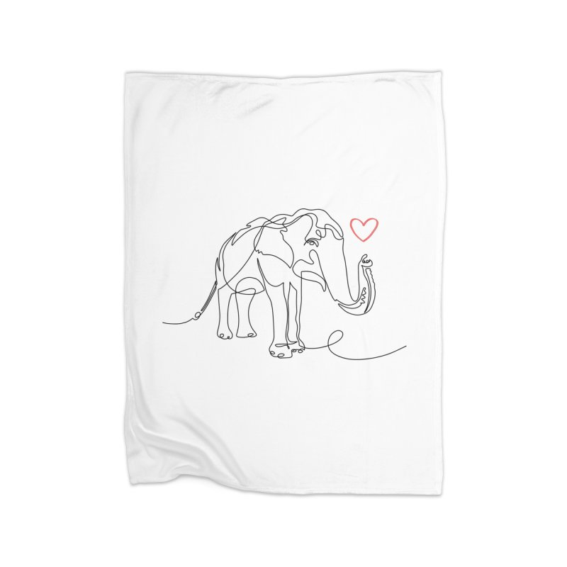 Elly Love - Black Home Blanket by Trunks & Leaves' Artist Shop