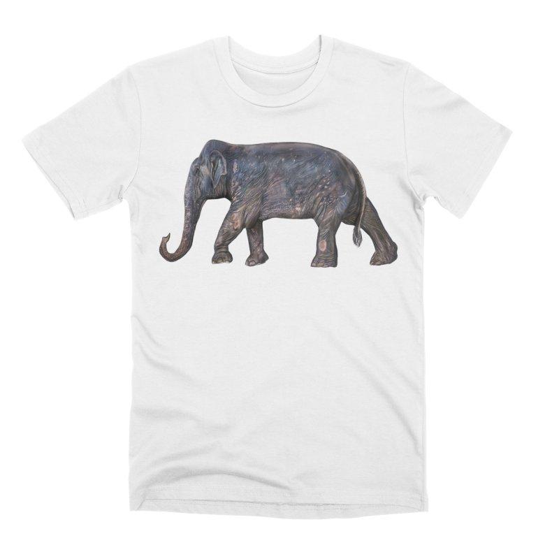 Walking Bull by Sketchy Wildlife Men's T-Shirt by Trunks & Leaves' Artist Shop