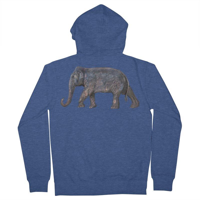 Walking Bull by Sketchy Wildlife Men's Zip-Up Hoody by Trunks & Leaves' Artist Shop