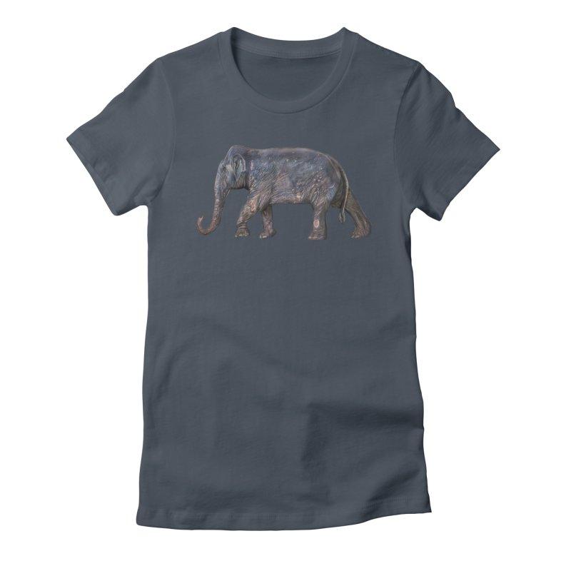 Walking Bull by Sketchy Wildlife Women's T-Shirt by Trunks & Leaves' Artist Shop