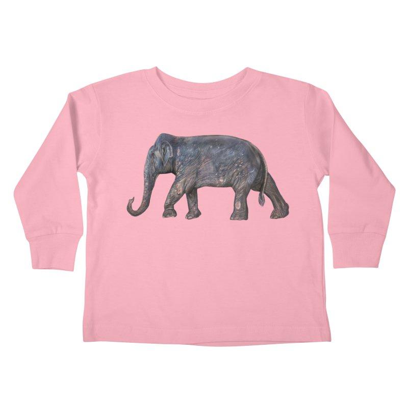 Walking Bull by Sketchy Wildlife Kids Toddler Longsleeve T-Shirt by Trunks & Leaves' Artist Shop