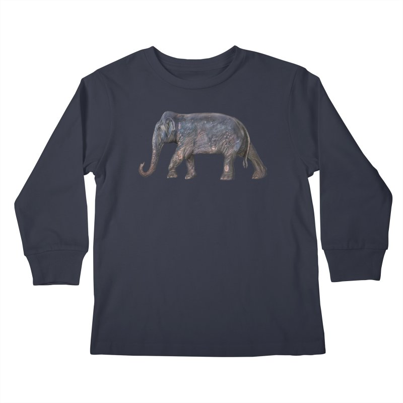 Walking Bull by Sketchy Wildlife Kids Longsleeve T-Shirt by Trunks & Leaves' Artist Shop