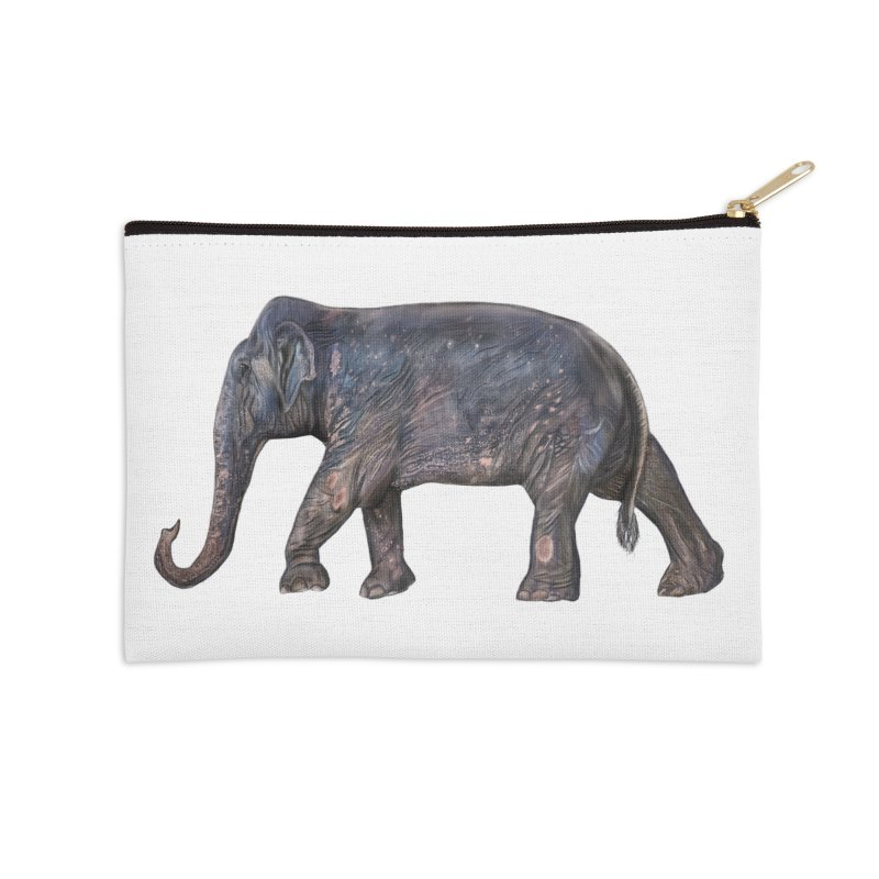 Walking Bull by Sketchy Wildlife Accessories Zip Pouch by Trunks & Leaves' Artist Shop