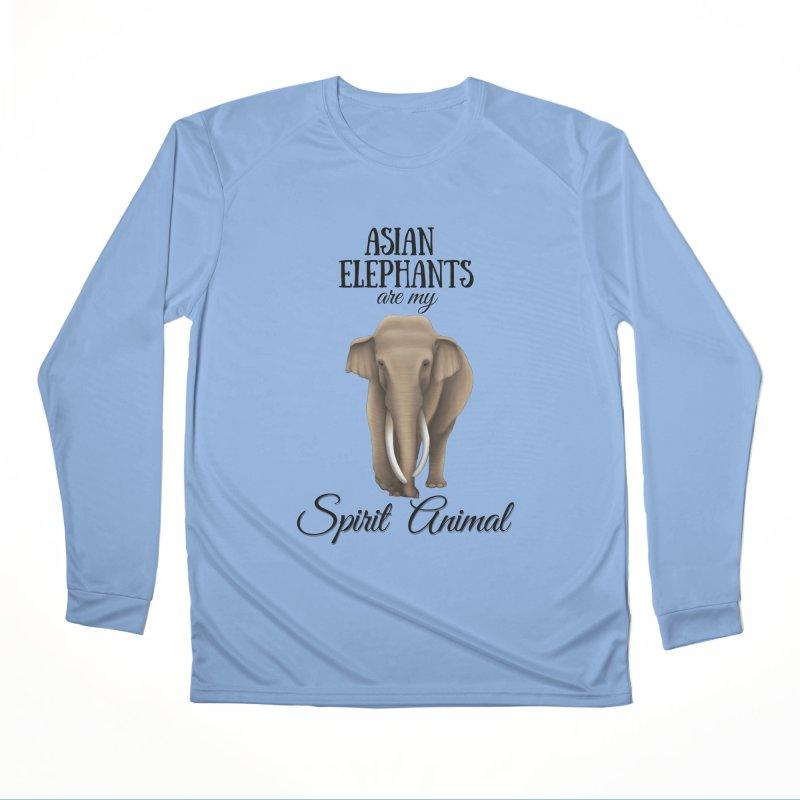 Troy Paulo - Asian Elephants are my Spirit Animal Men's Longsleeve T-Shirt by Trunks & Leaves' Artist Shop