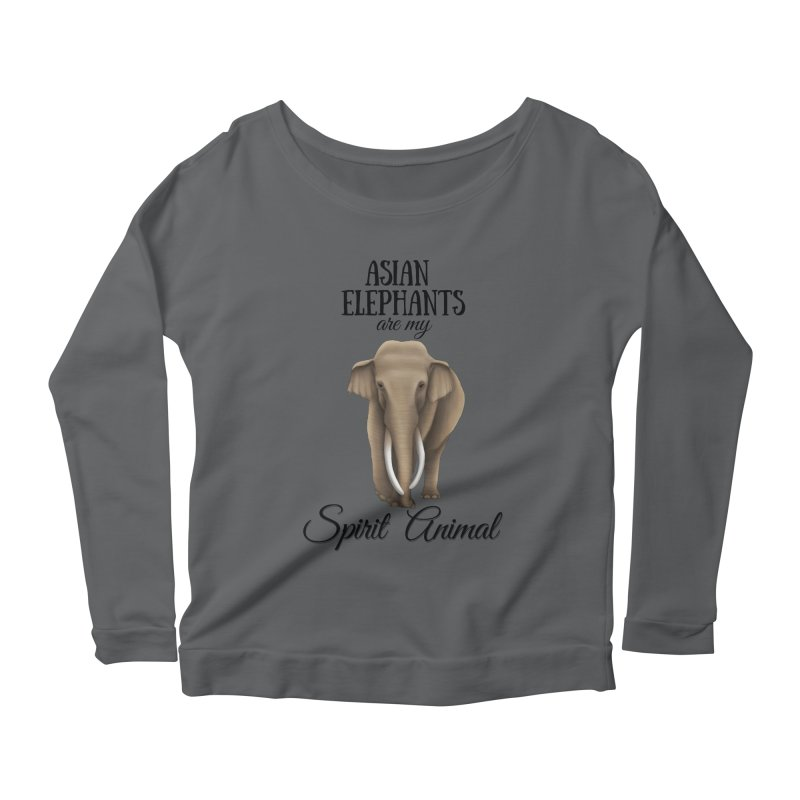 Troy Paulo - Asian Elephants are my Spirit Animal Women's Longsleeve T-Shirt by Trunks & Leaves' Artist Shop