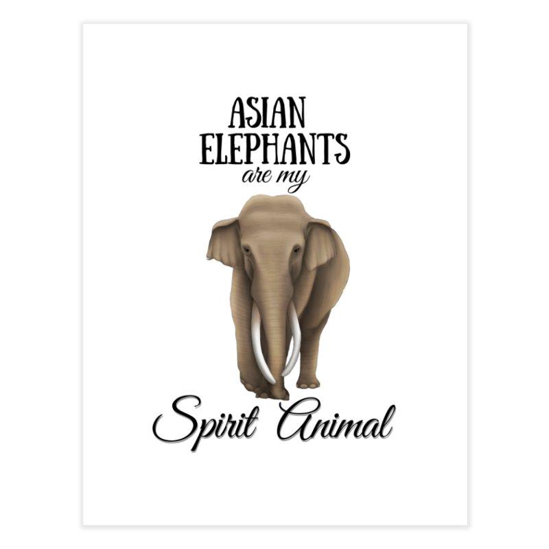 Troy Paulo - Asian Elephants are my Spirit Animal Home Fine Art Print by Trunks & Leaves' Artist Shop
