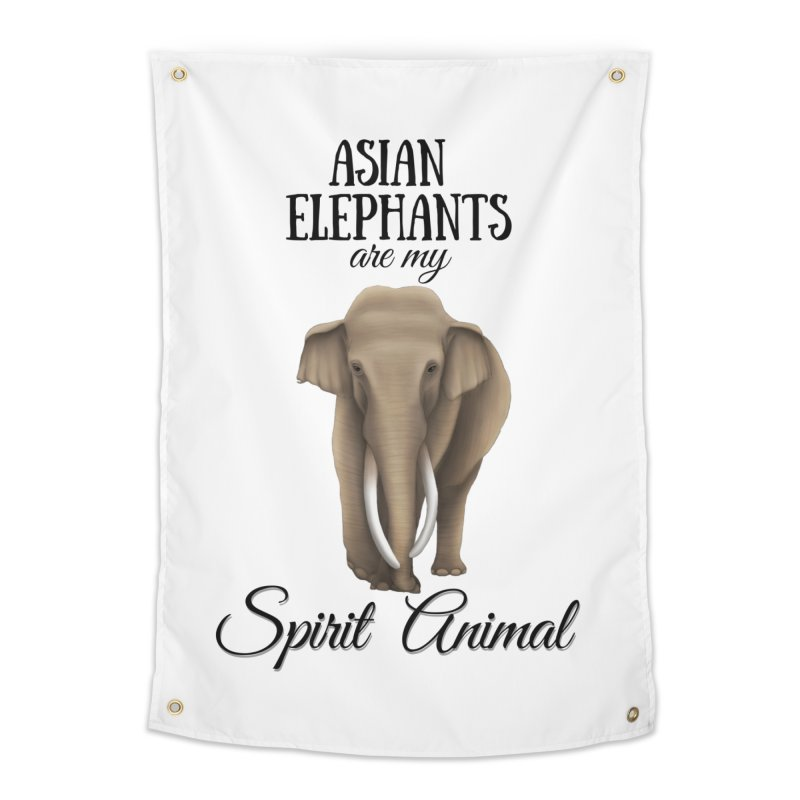 Troy Paulo - Asian Elephants are my Spirit Animal Home Tapestry by Trunks & Leaves' Artist Shop