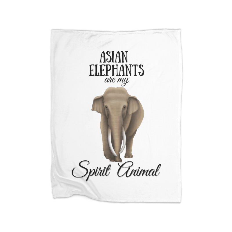Troy Paulo - Asian Elephants are my Spirit Animal Home Blanket by Trunks & Leaves' Artist Shop