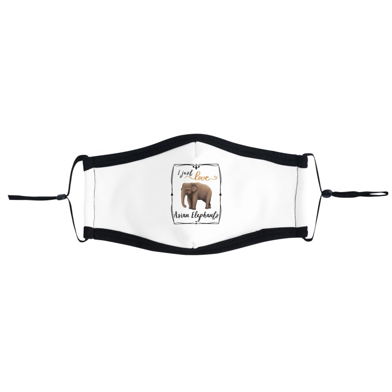 Troy Paulo - I Just Love Asian Elephants Accessories Face Mask by Trunks & Leaves' Artist Shop
