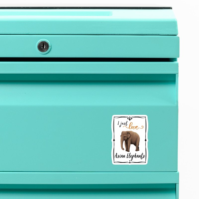 Troy Paulo - I Just Love Asian Elephants Accessories Magnet by Trunks & Leaves' Artist Shop