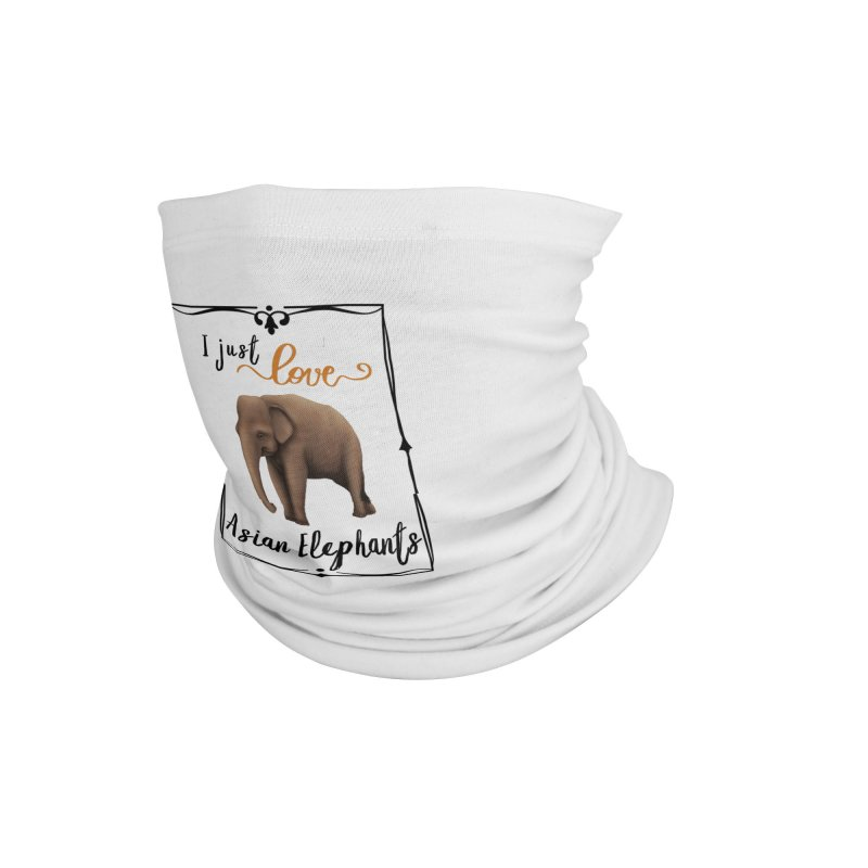 Troy Paulo - I Just Love Asian Elephants Accessories Neck Gaiter by Trunks & Leaves' Artist Shop