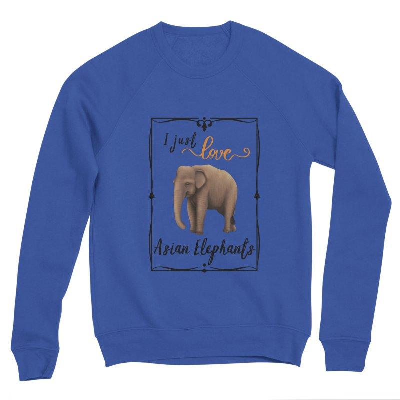 Troy Paulo - I Just Love Asian Elephants Men's Sweatshirt by Trunks & Leaves' Artist Shop