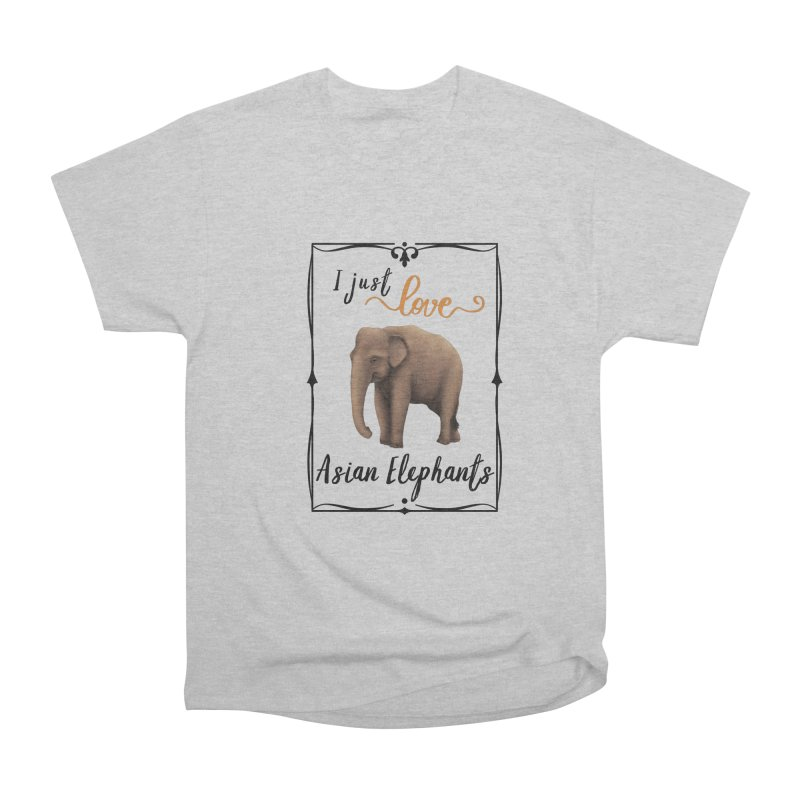 Troy Paulo - I Just Love Asian Elephants Men's T-Shirt by Trunks & Leaves' Artist Shop