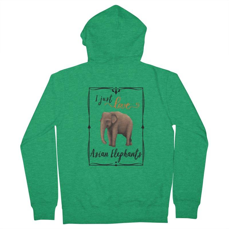 Troy Paulo - I Just Love Asian Elephants Men's Zip-Up Hoody by Trunks & Leaves' Artist Shop
