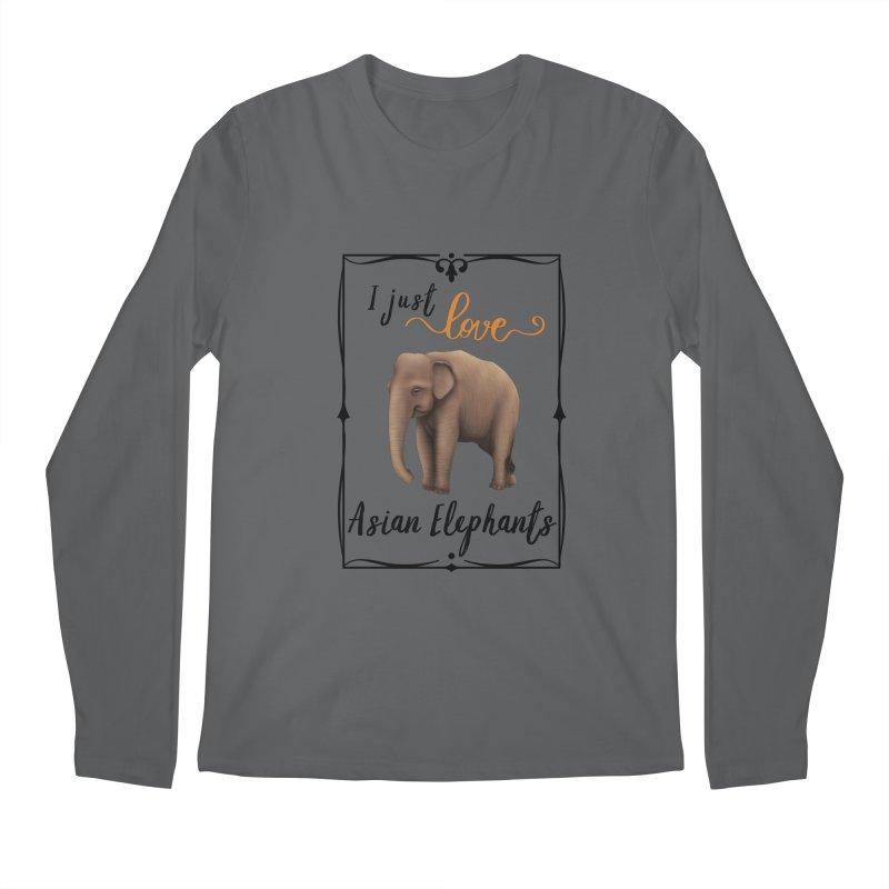 Troy Paulo - I Just Love Asian Elephants Men's Longsleeve T-Shirt by Trunks & Leaves' Artist Shop