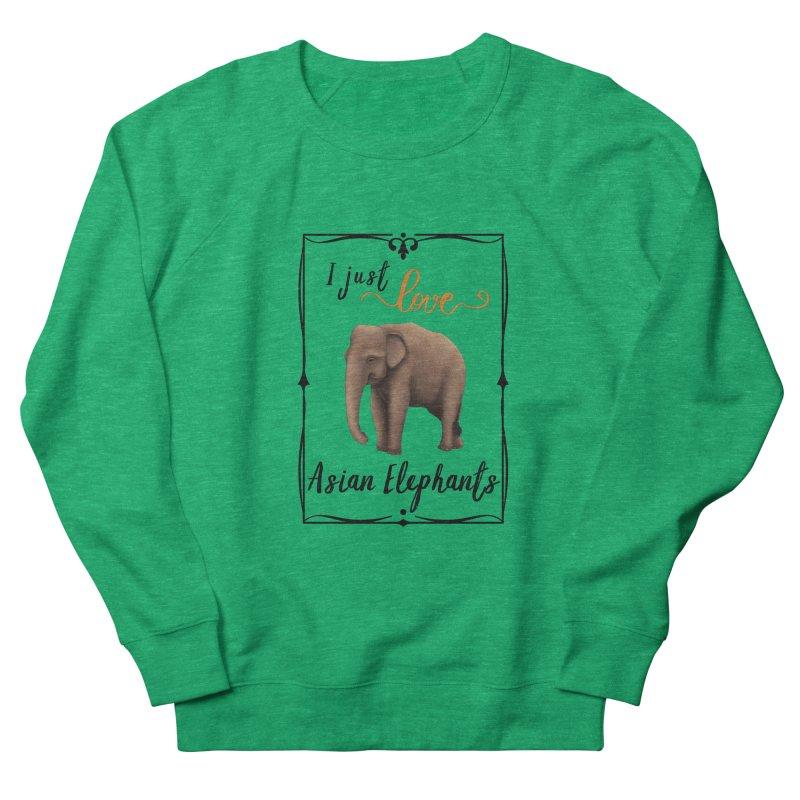 Troy Paulo - I Just Love Asian Elephants Women's Sweatshirt by Trunks & Leaves' Artist Shop