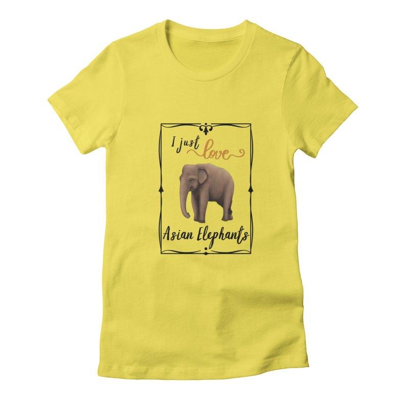 Troy Paulo - I Just Love Asian Elephants Women's T-Shirt by Trunks & Leaves' Artist Shop