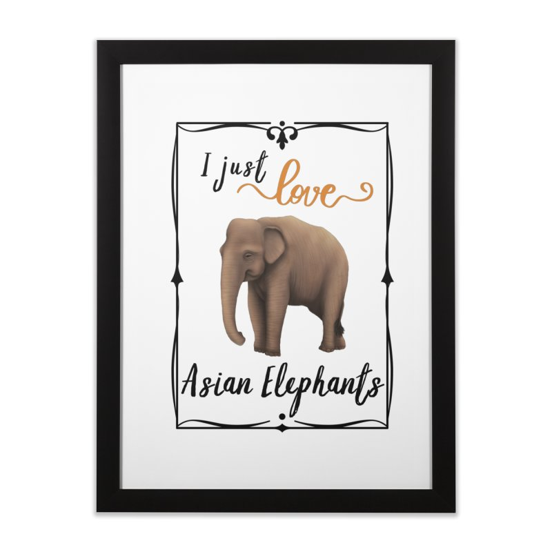 Troy Paulo - I Just Love Asian Elephants Home Framed Fine Art Print by Trunks & Leaves' Artist Shop