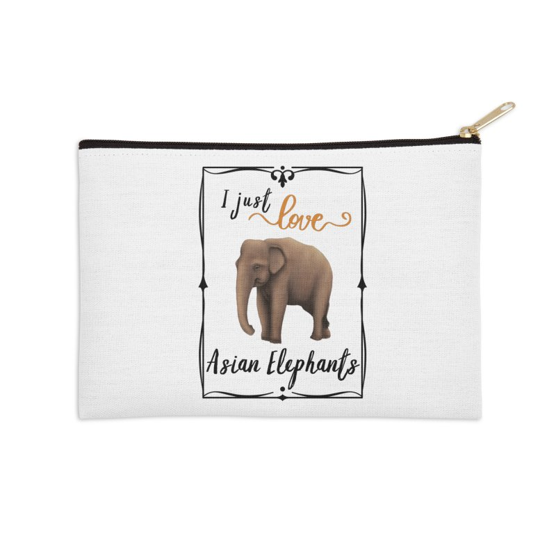 Troy Paulo - I Just Love Asian Elephants Accessories Zip Pouch by Trunks & Leaves' Artist Shop