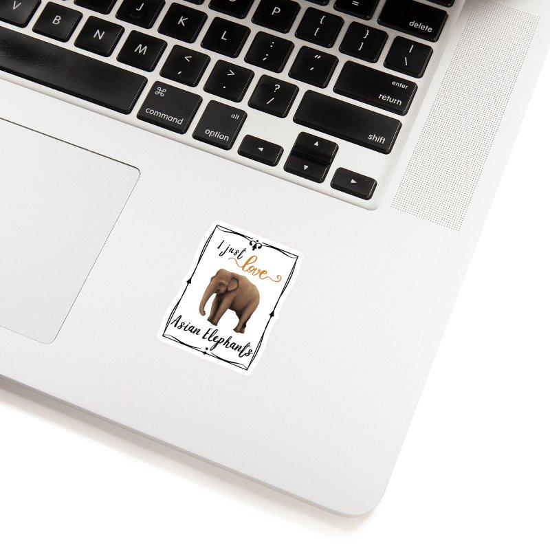 Troy Paulo - I Just Love Asian Elephants Accessories Sticker by Trunks & Leaves' Artist Shop