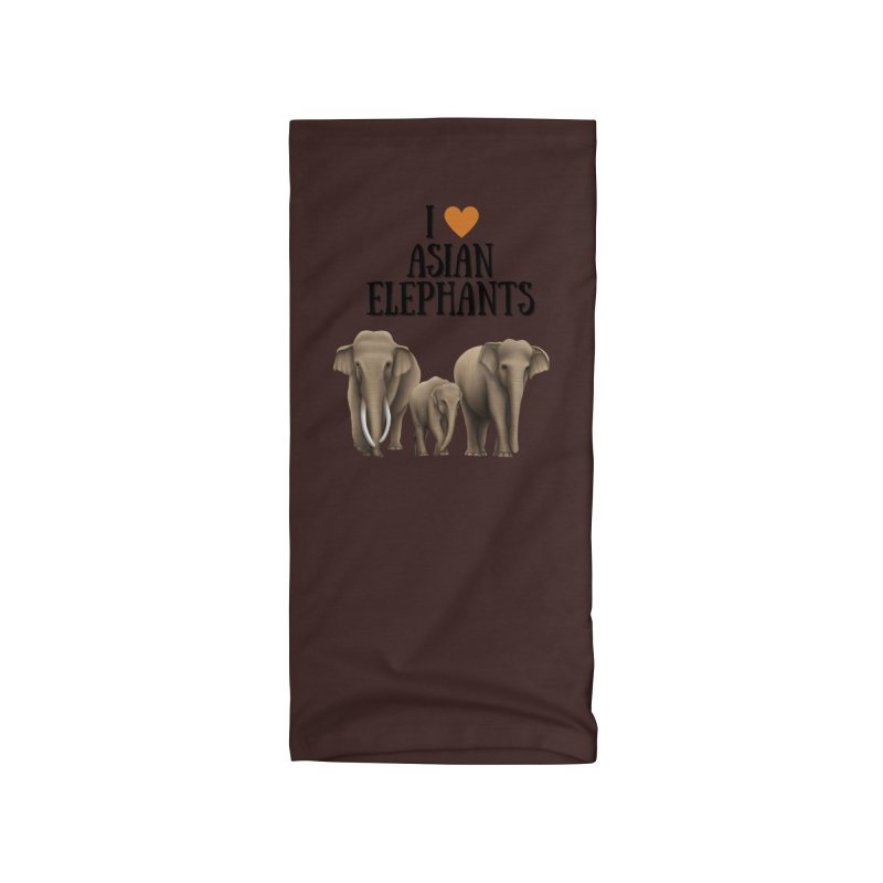 Troy Paulo - I Love Asian Elephants Accessories Neck Gaiter by Trunks & Leaves' Artist Shop