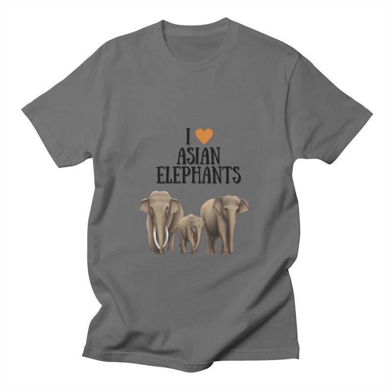 Troy Paulo - I Love Asian Elephants Men's T-Shirt by Trunks & Leaves' Artist Shop