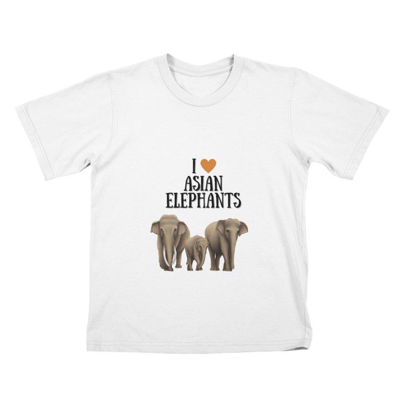 Troy Paulo - I Love Asian Elephants Kids T-Shirt by Trunks & Leaves' Artist Shop