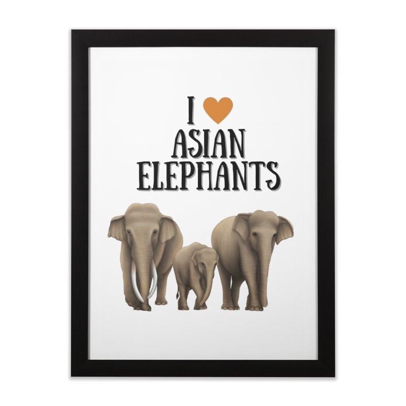 Troy Paulo - I Love Asian Elephants Home Framed Fine Art Print by Trunks & Leaves' Artist Shop