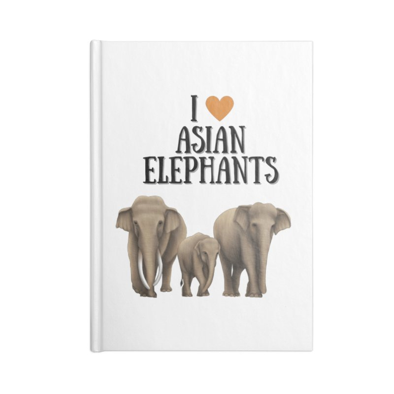 Troy Paulo - I Love Asian Elephants Accessories Notebook by Trunks & Leaves' Artist Shop