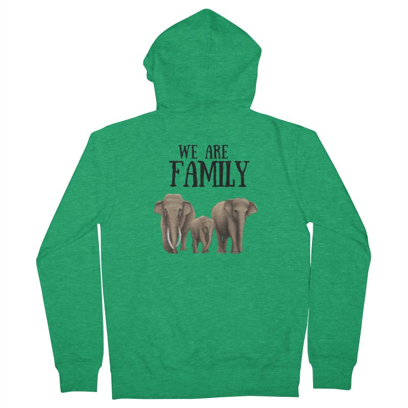 Troy Paulo - We Are Family Women's Zip-Up Hoody by Trunks & Leaves' Artist Shop