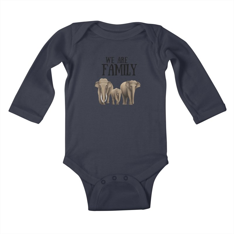 Troy Paulo - We Are Family Kids Baby Longsleeve Bodysuit by Trunks & Leaves' Artist Shop