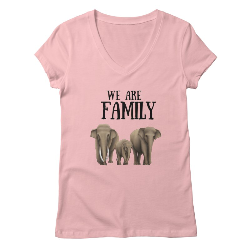 Troy Paulo - We Are Family Women's V-Neck by Trunks & Leaves' Artist Shop