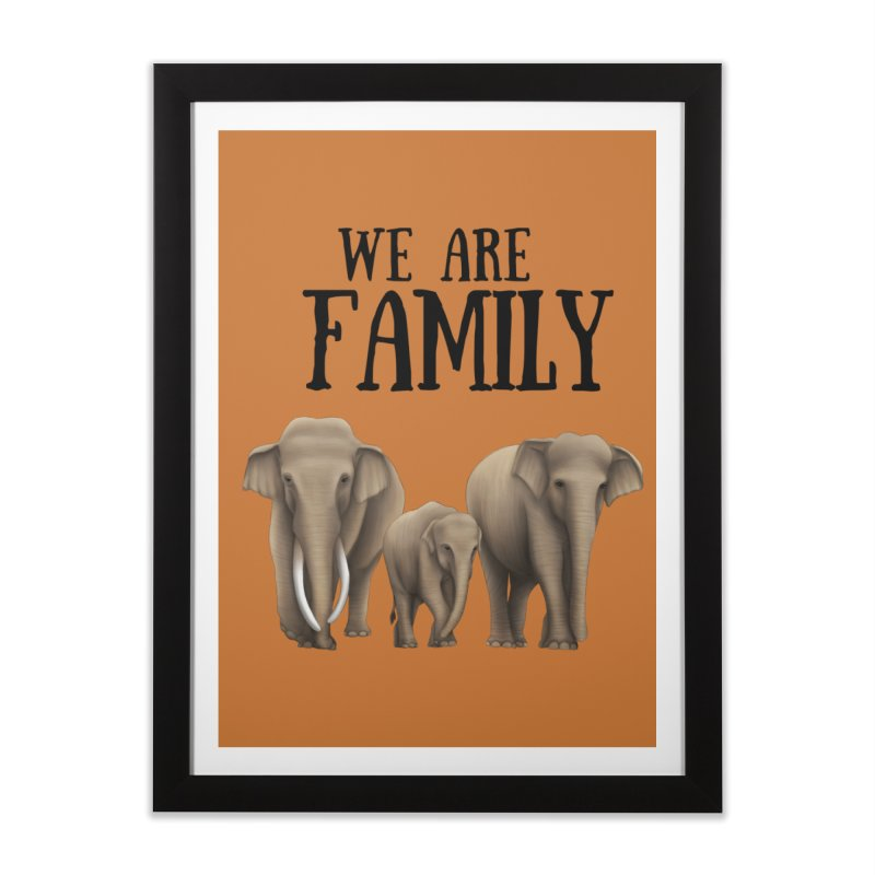 Troy Paulo - We Are Family Home Framed Fine Art Print by Trunks & Leaves' Artist Shop