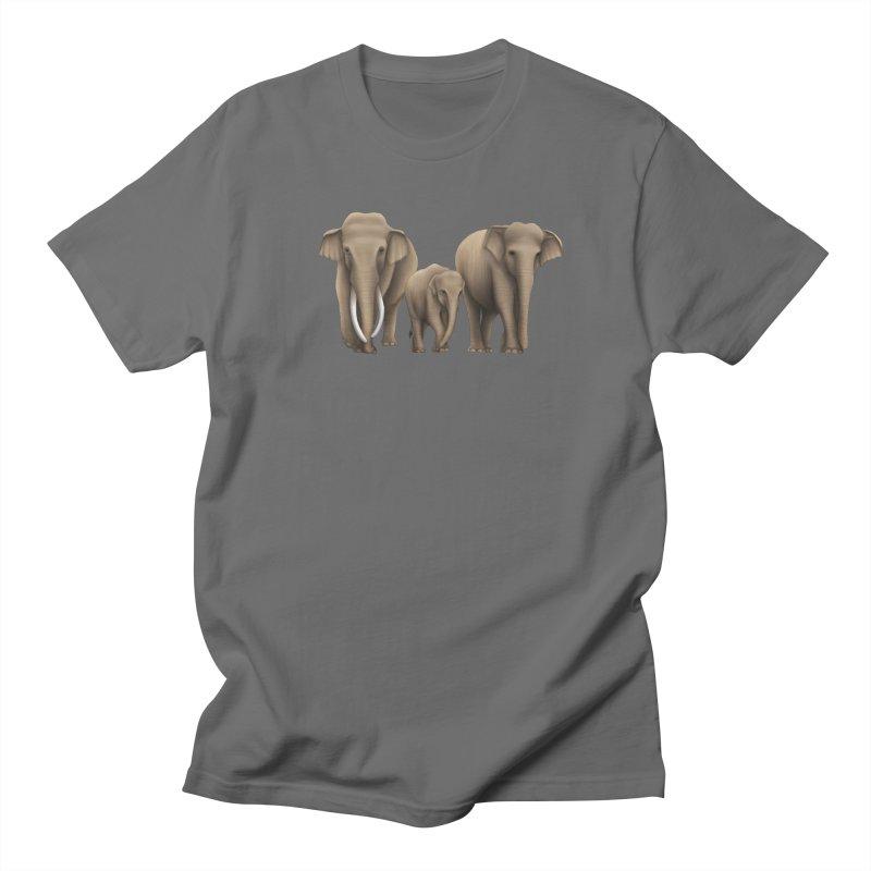 Troy Paulo - Asian Elephant Family Men's T-Shirt by Trunks & Leaves' Artist Shop