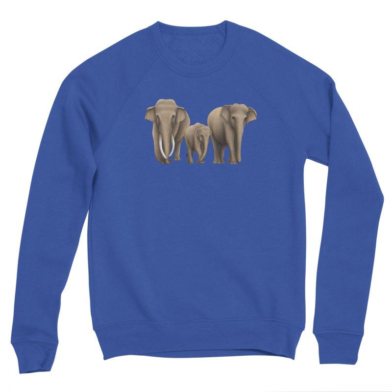 Troy Paulo - Asian Elephant Family Men's Sweatshirt by Trunks & Leaves' Artist Shop