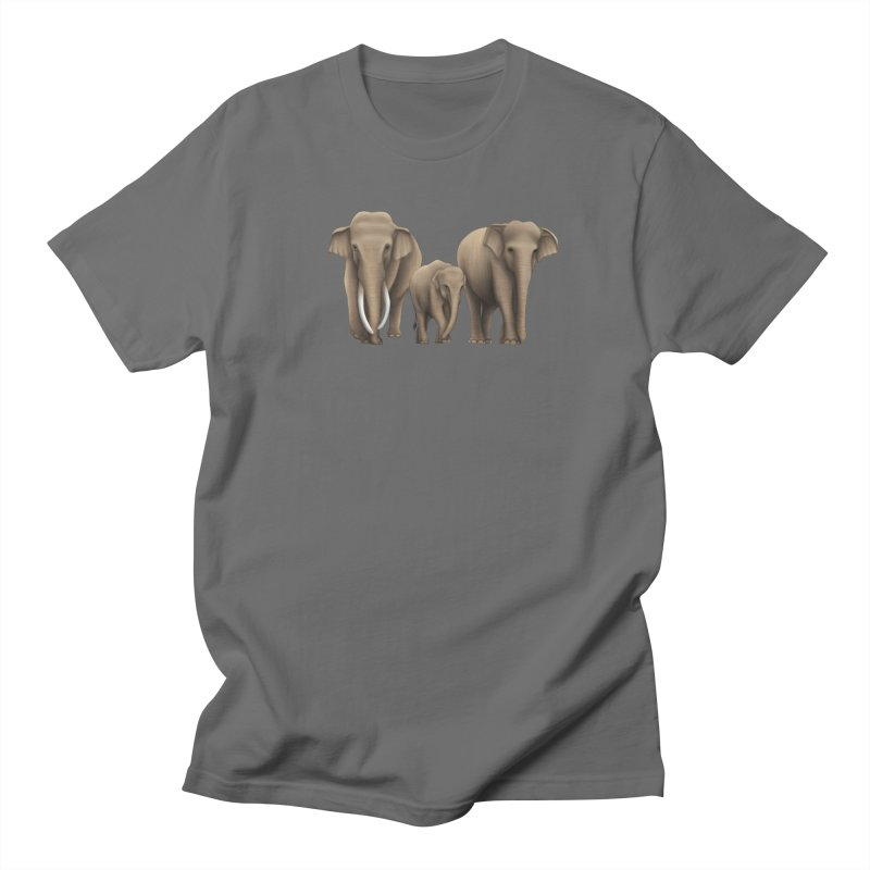 Troy Paulo - Asian Elephant Family Men's T-Shirt by Trunks & Leaves' Artist Shop