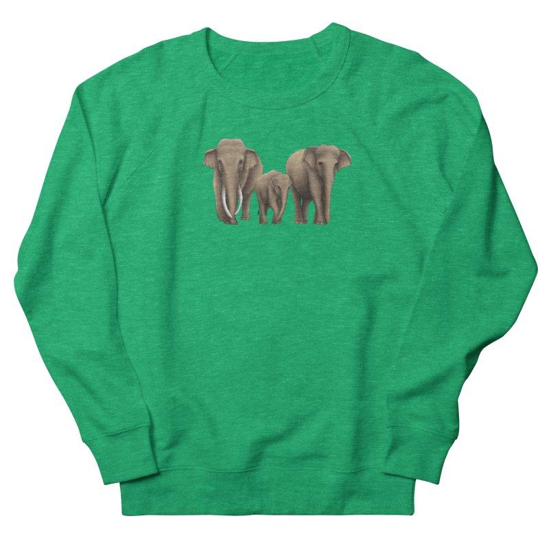 Troy Paulo - Asian Elephant Family Women's Sweatshirt by Trunks & Leaves' Artist Shop