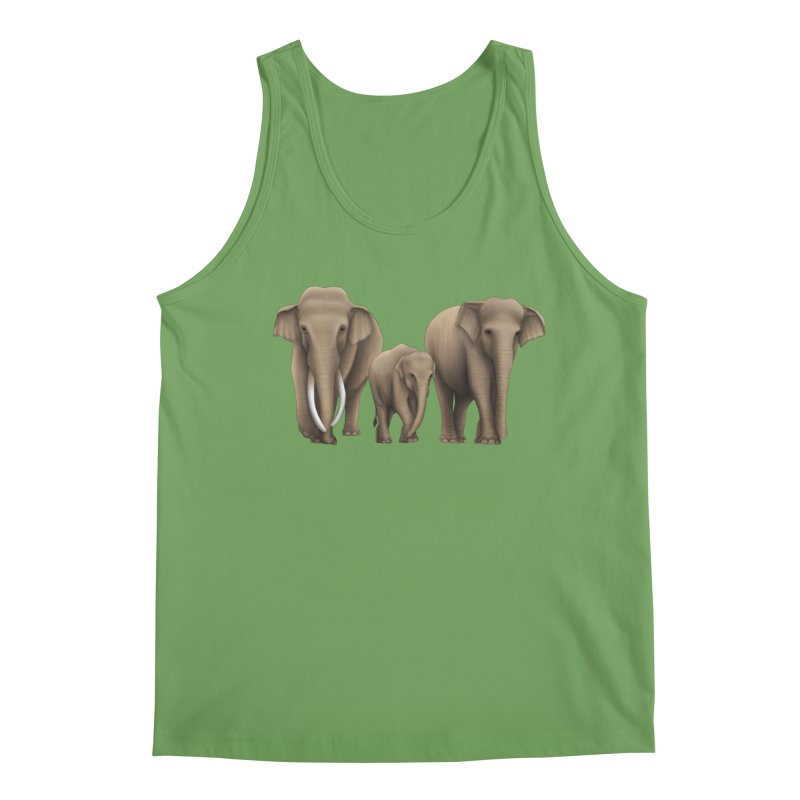 Troy Paulo - Asian Elephant Family Men's Tank by Trunks & Leaves' Artist Shop