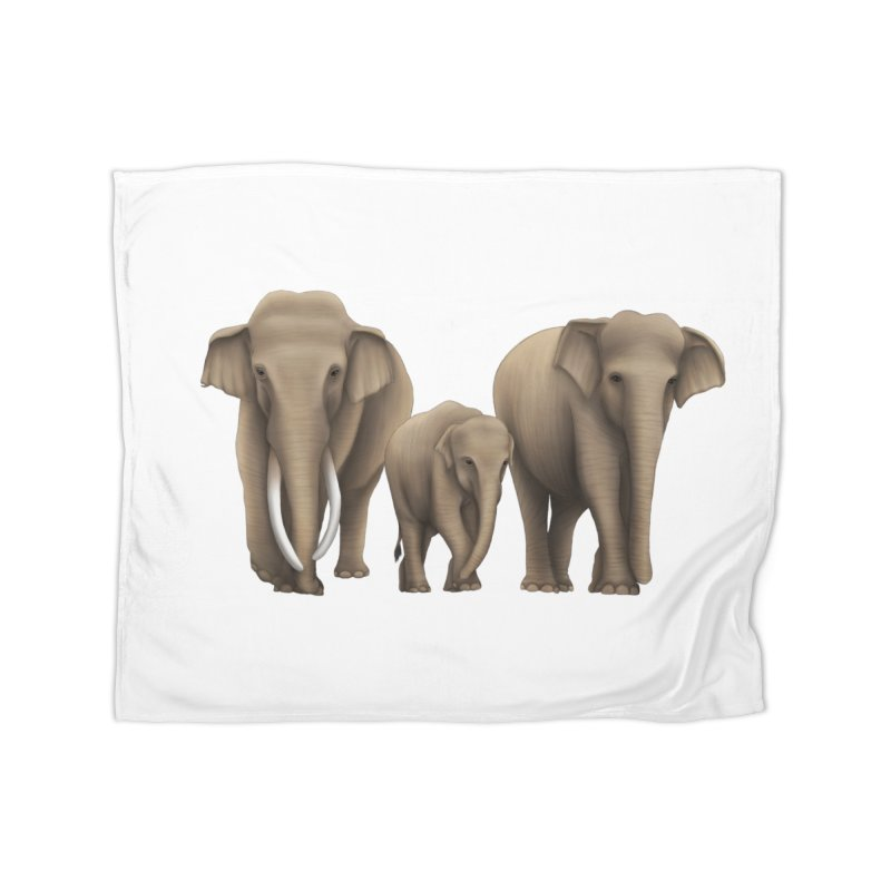 Troy Paulo - Asian Elephant Family Home Blanket by Trunks & Leaves' Artist Shop