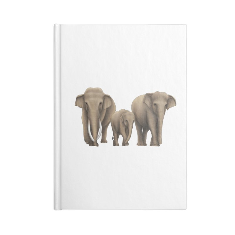 Troy Paulo - Asian Elephant Family Accessories Notebook by Trunks & Leaves' Artist Shop