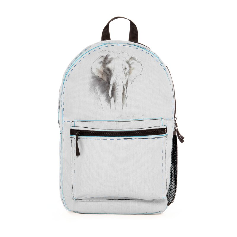 Carina Kramer - Asian Elephant Sketch Accessories Bag by Trunks & Leaves' Artist Shop